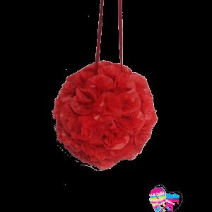 Piñata de flores rojas